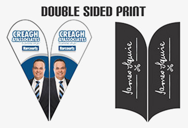 double sided wing banner print
